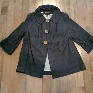 Dark Denim Jacket by International Concepts Women